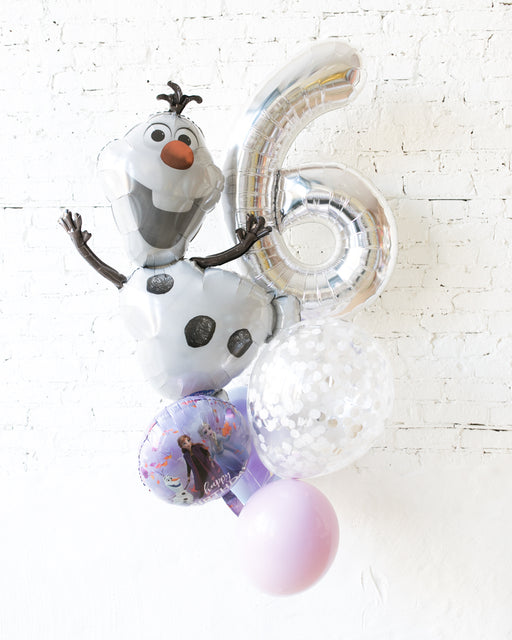 GIFT-Frozen Theme Number Birthday Bouquet