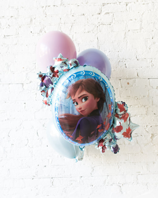 Frozen Theme - ANNA Foil and 11in Balloons - bouquet of 4