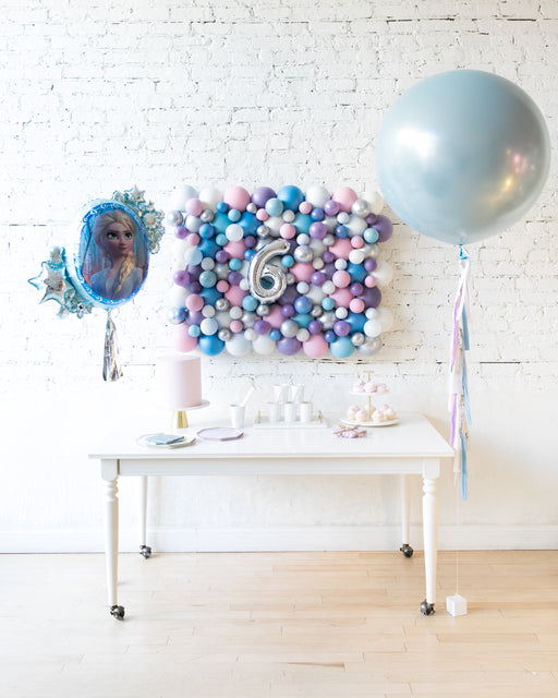 Frozen Theme - Giant Balloon, Balloon Backdrop and Foil Set