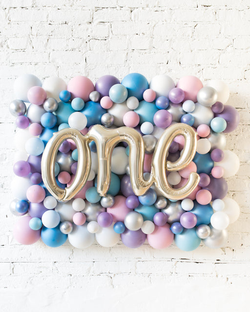 Frozen Theme - ONE Script Balloon Backdrop Board - 30inx40in