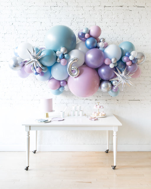 Frozen Theme - Number Backdrop Balloon Garland Install Piece - 6ft