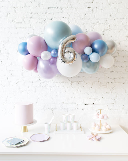 Frozen Theme - Number Backdrop Balloon Garland Install Piece - 3ft