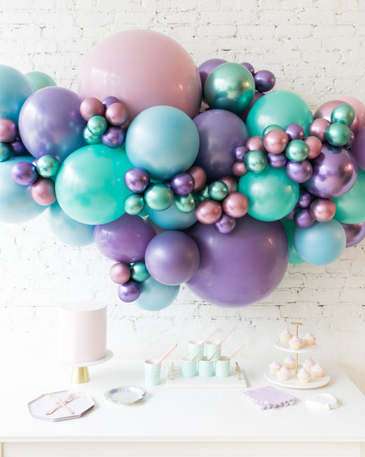 Mermaid Theme - Backdrop Balloon Garland Install Piece - 6ft