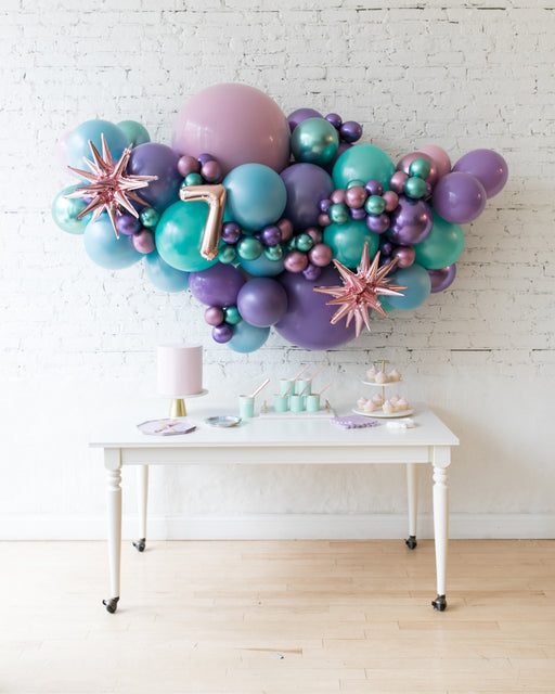 Mermaid Theme - Number Backdrop Balloon Garland Install Piece - 6ft