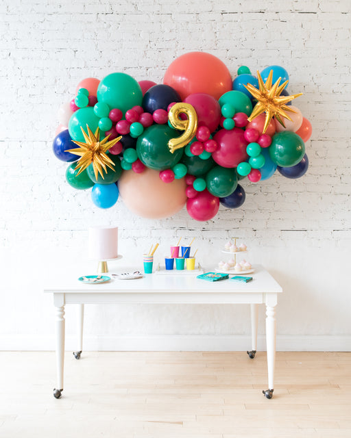 Party Animal Theme - Number Backdrop Balloon Garland Install Piece - 6ft