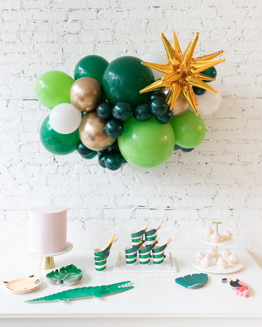 Jungle Theme - Backdrop Balloon Garland Install Piece with Magic Star - 3ft