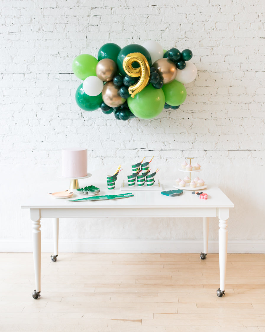 Jungle Theme - Number Backdrop Balloon Garland Install Piece - 3ft