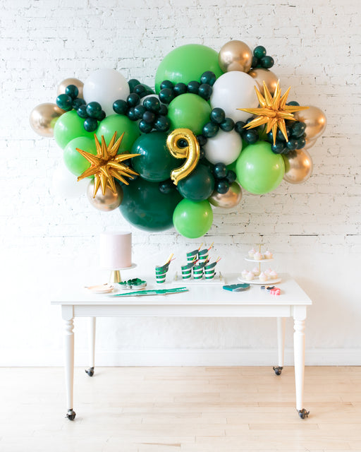 Jungle Theme - Number Backdrop Balloon Garland Install Piece - 6ft