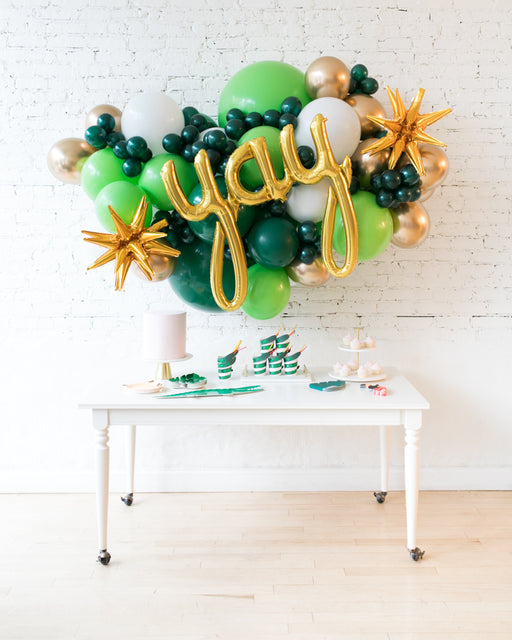 Jungle Theme - Yay Script Backdrop Balloon Garland Install Piece - 6ft