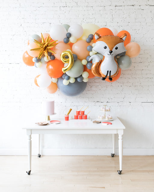 Woodland Theme - Fox Backdrop Balloon Garland Install Piece - 6ft