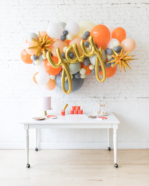 Woodland Theme - Yay Script Backdrop Balloon Garland Install Piece - 6ft