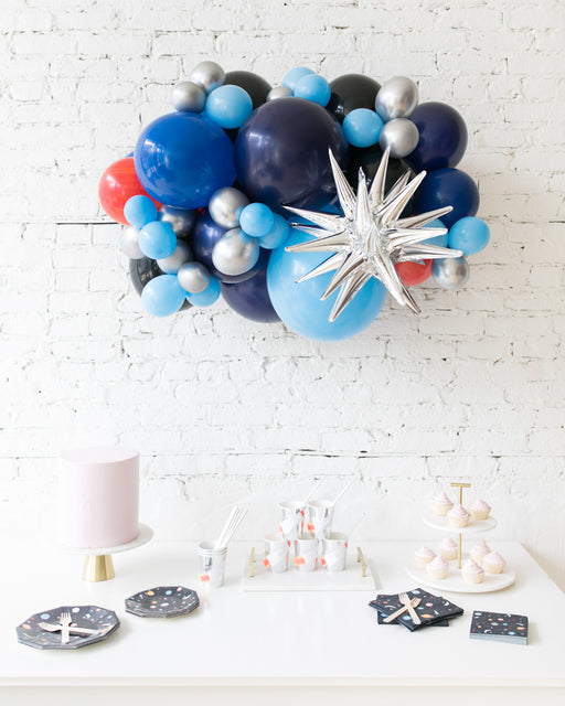 Space Theme - Magic Star Backdrop Balloon Garland Install Piece - 3ft