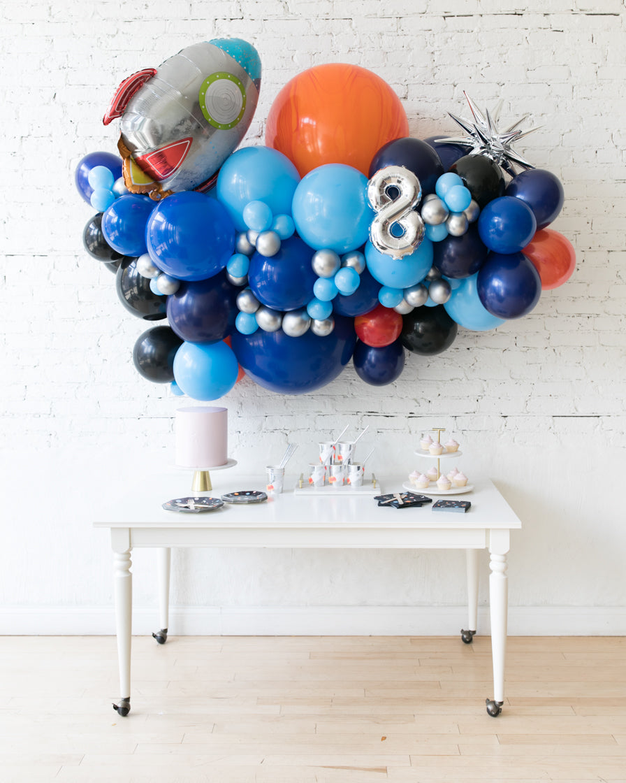 Space Theme - Rocketship Backdrop Balloon Garland Install Piece - 6ft