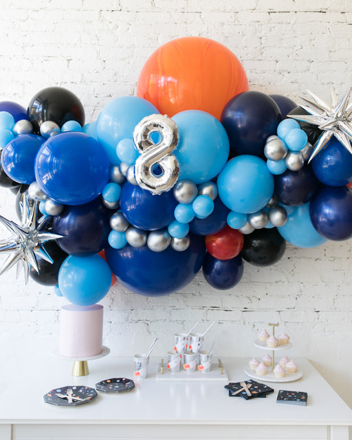 Space Theme - Number Backdrop Balloon Garland Install Piece - 6ft