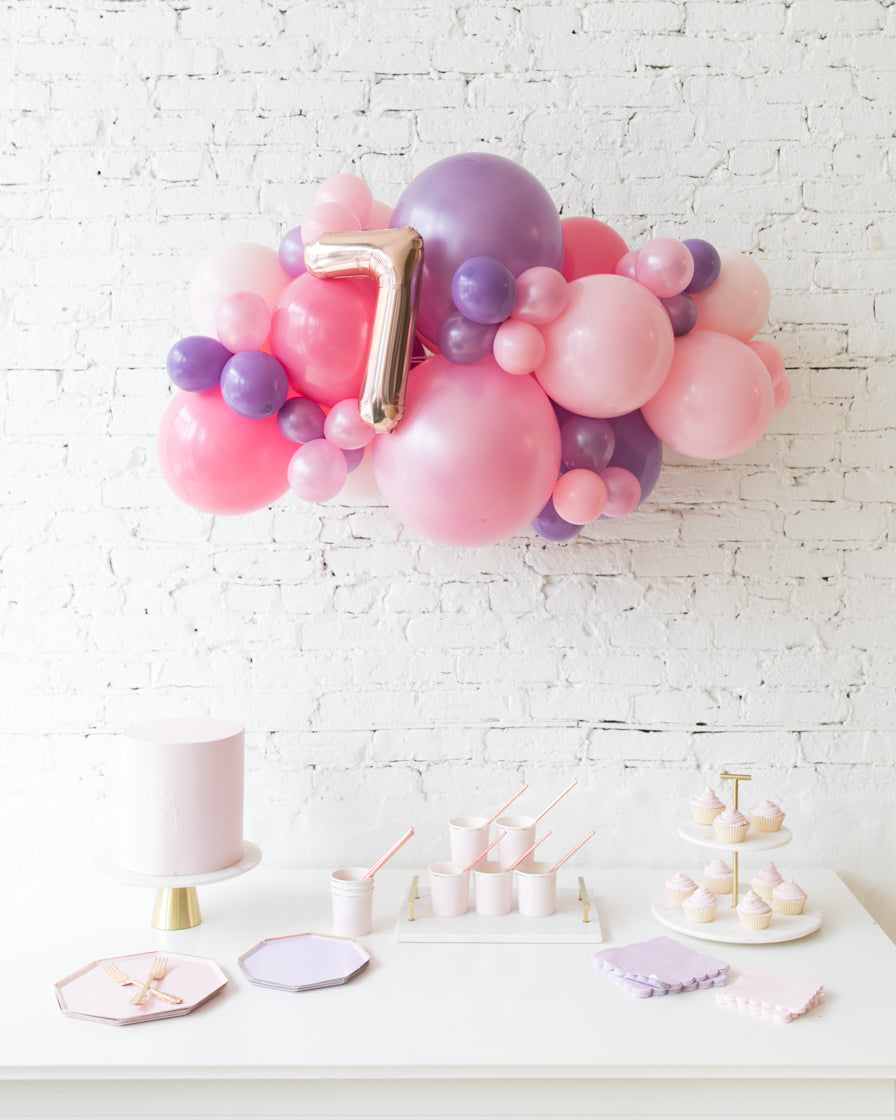 Princess Theme - Number Backdrop Balloon Garland Install Piece