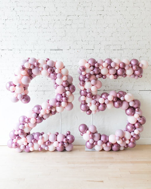 Custom Modern Mauve - 5ft Freestanding Numbers