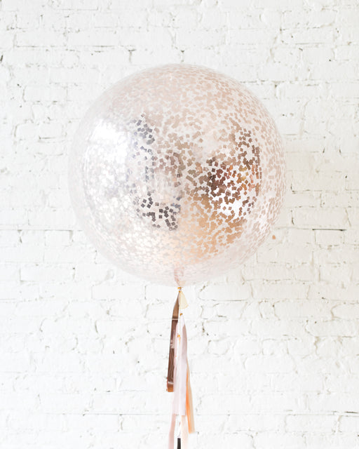 Giant Latex Rose Gold Balloon