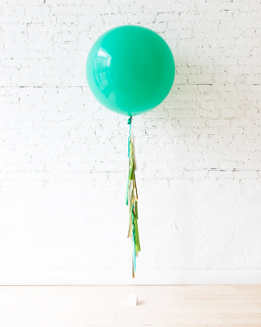 GIFT-Wintergreen Giant Balloon and Shades of Green Tassel