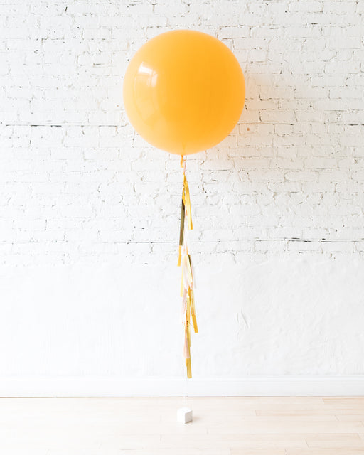 GIFT-Goldenrod Giant Balloon and Yellow, Blush & Gold Tassel