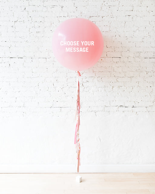 Customizable GIFT-Mother's Day Pink Giant Balloon and Tassel