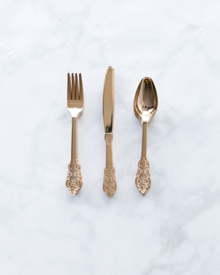 Talking Tables - Rose Gold Cutlery Set - 18 units
