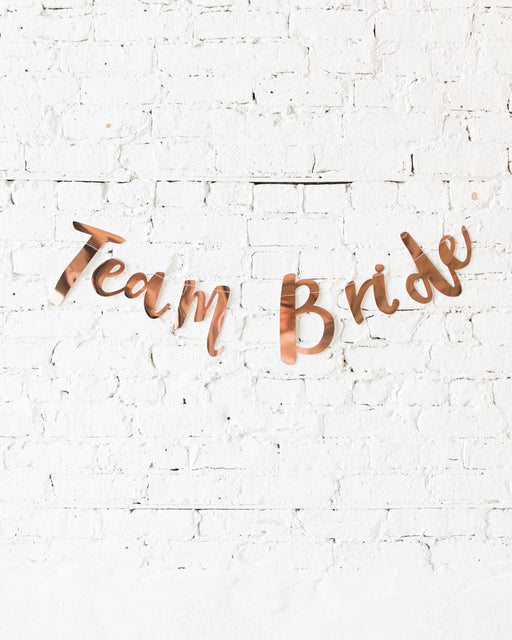Ginger Ray - Rose Gold TEAM BRIDE Banner