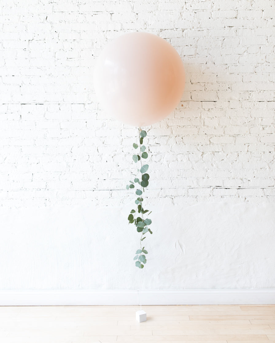 Glam Tan - Giant Balloon with Greenery Tassel