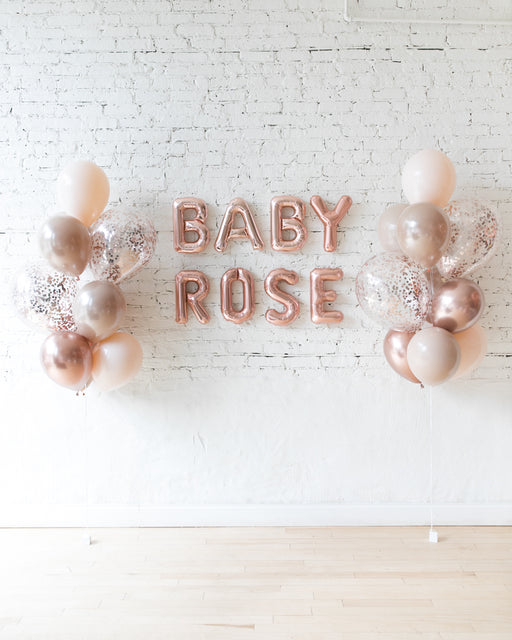 Glam Tan - Letters & Confetti Balloon Bouquets Set