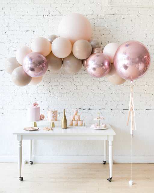 Glam Tan - Floating Arch & 21in Orb Balloon Set