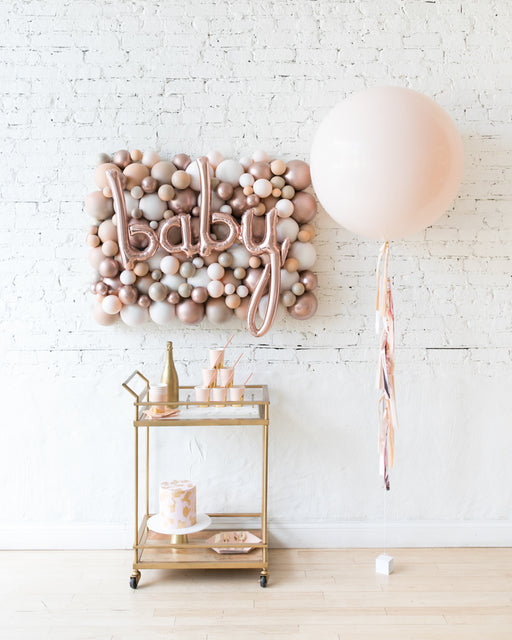 Glam Tan - Baby Backdrop & Giant Balloon Set