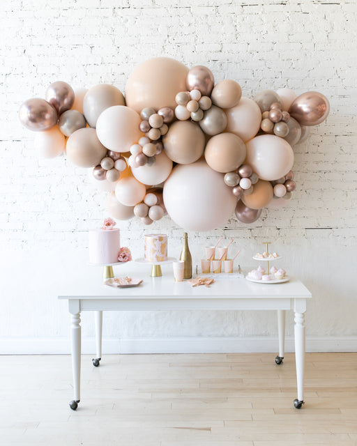Glam Tan - Backdrop Balloon Garland Install Piece