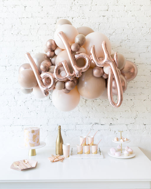 Glam Tan - BABY Backdrop Balloon Garland Install Piece - 3ft