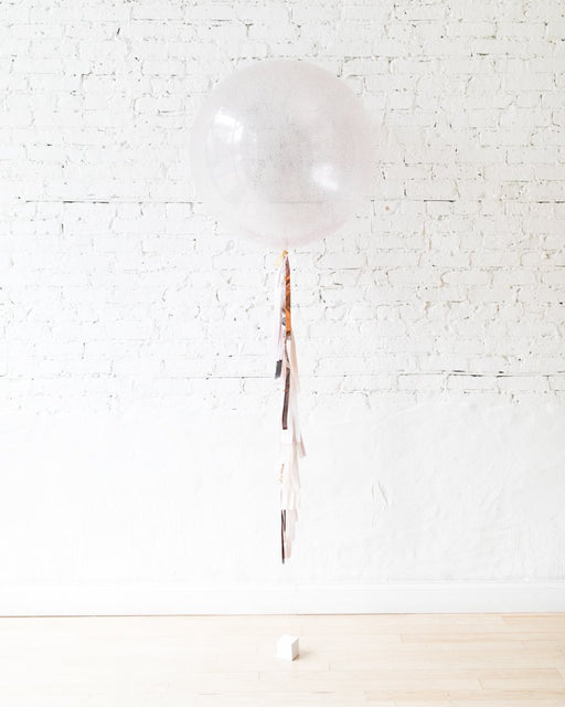 Modern Mauve - Glitter Giant Balloon with Tassel