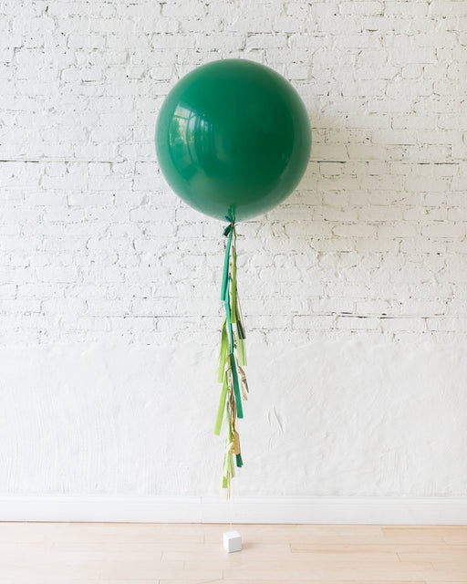 Green Giant Balloon and Jungle Theme Tassel