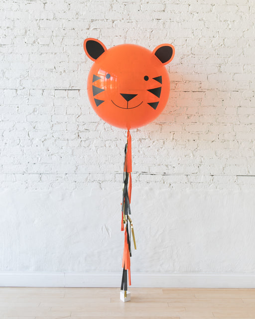 Jungle Theme Tiger Specialty Giant Balloon and Tassel