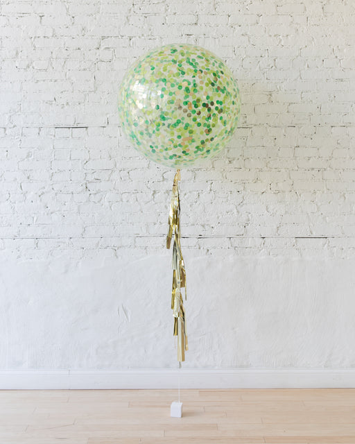 Jungle Theme Confetti Giant Balloon and Tassel
