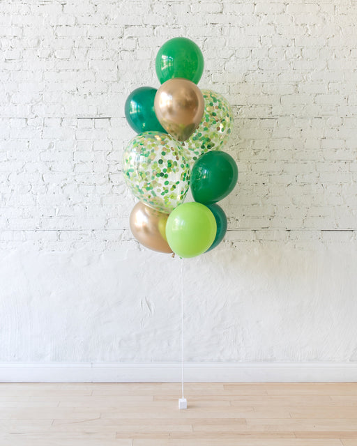 GIFT-Jungle Theme Confetti and 11in Balloons - bouquet of 10