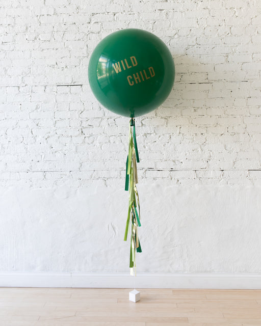 Jungle Theme WILD CHILD Giant Balloon and Tassel