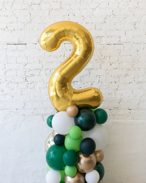Customizable Jungle Theme Number Balloon Column - small