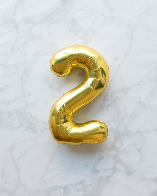 16in Gold Foil Number