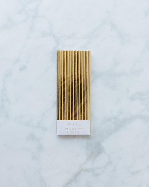 Meri Meri Gold Foil Straws - pack of 24