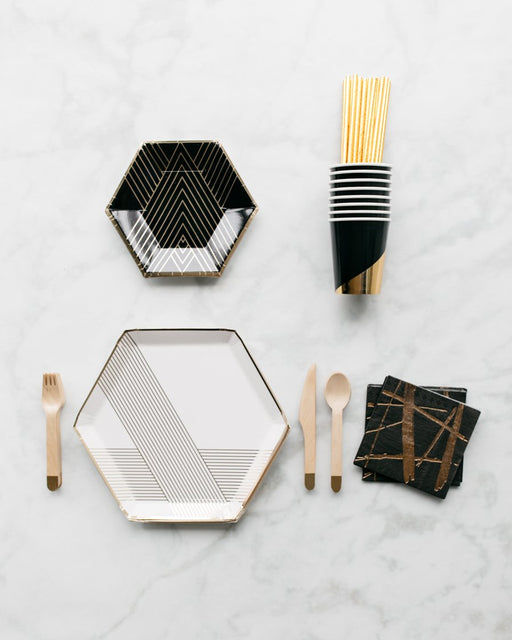 Black, White and Gold Party Box - serves 8