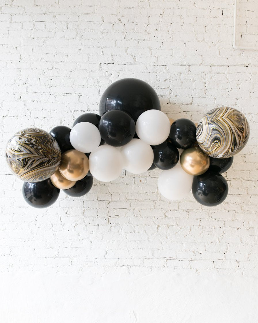 Black, White and Gold Palette Floating Arch - small