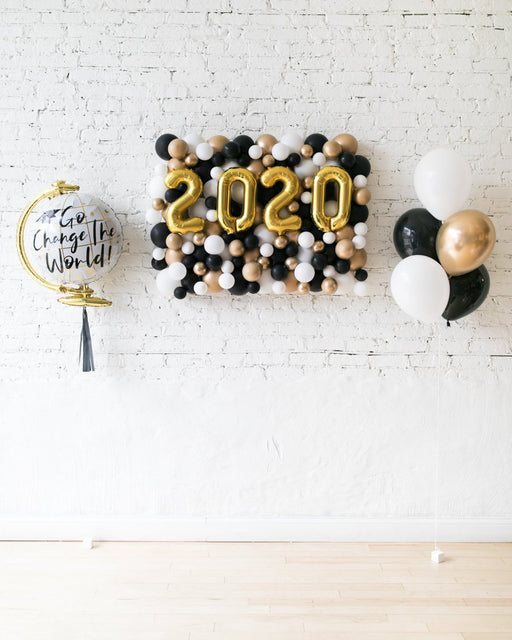 Black, White and Gold Palette 2020 Backdrop, Bouquet and Go Change the World Set