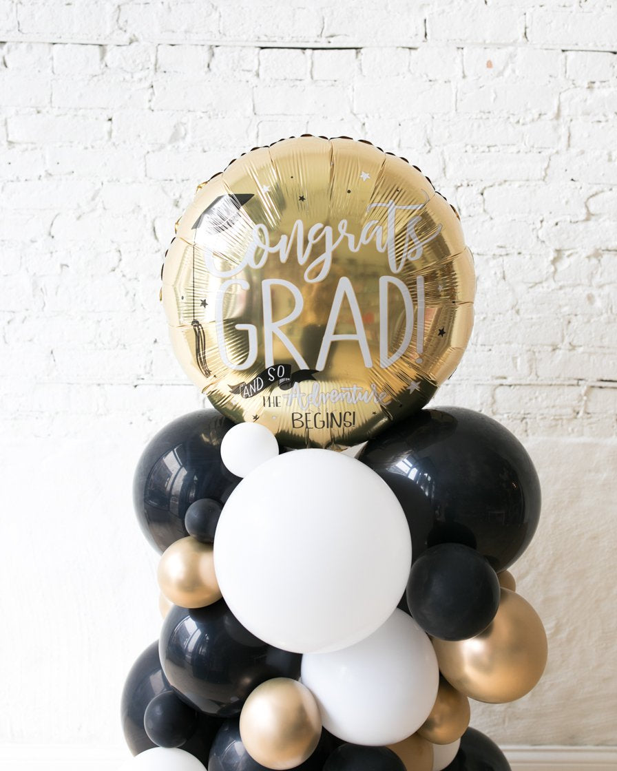OUTDOOR-Congrats Grad Balloon Column - small