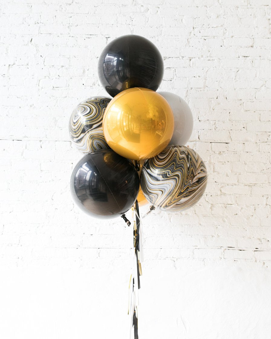 GIFT-Black, White and Gold Palette All Orbs Bouquet