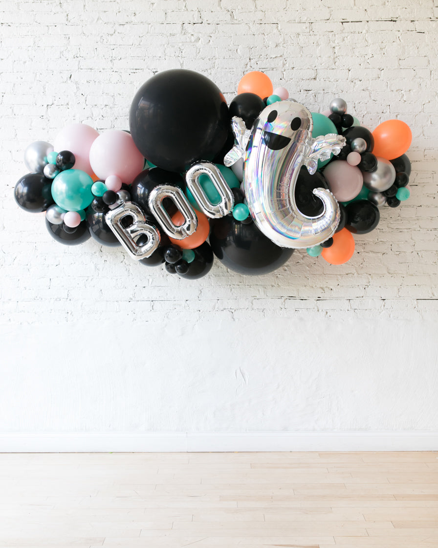 OUTDOOR - Halloween Theme - BOO Balloon Garland - 6ft