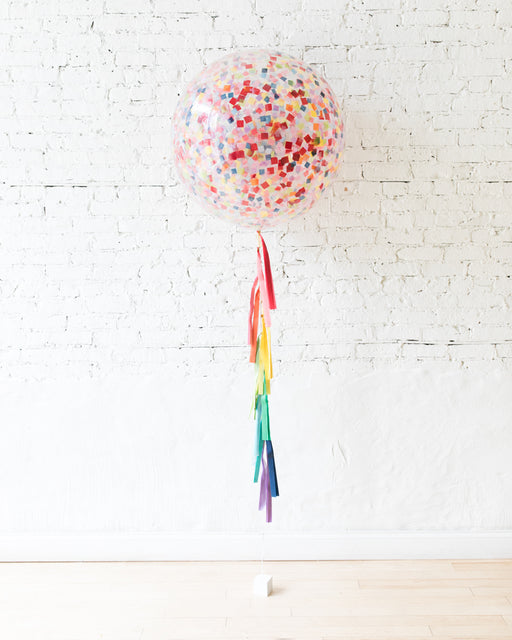 GIFT-Rainbow Confetti Giant and Tassel