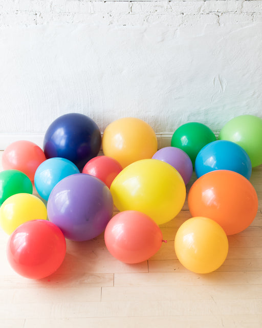GIFT-Multicolor Palette Floor Balloons - set of 15