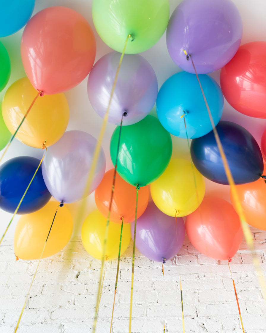 Rainbow Palette 11in Ceiling Balloons - set of 25